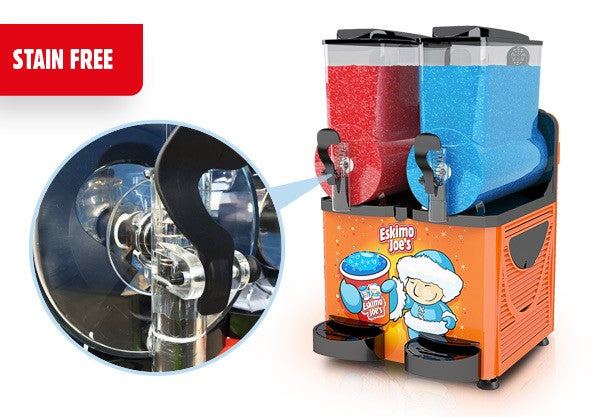 Eskimo Joe's Twin Bowl Slush Machine - Orange - Eskimo Joe's Australia - 6