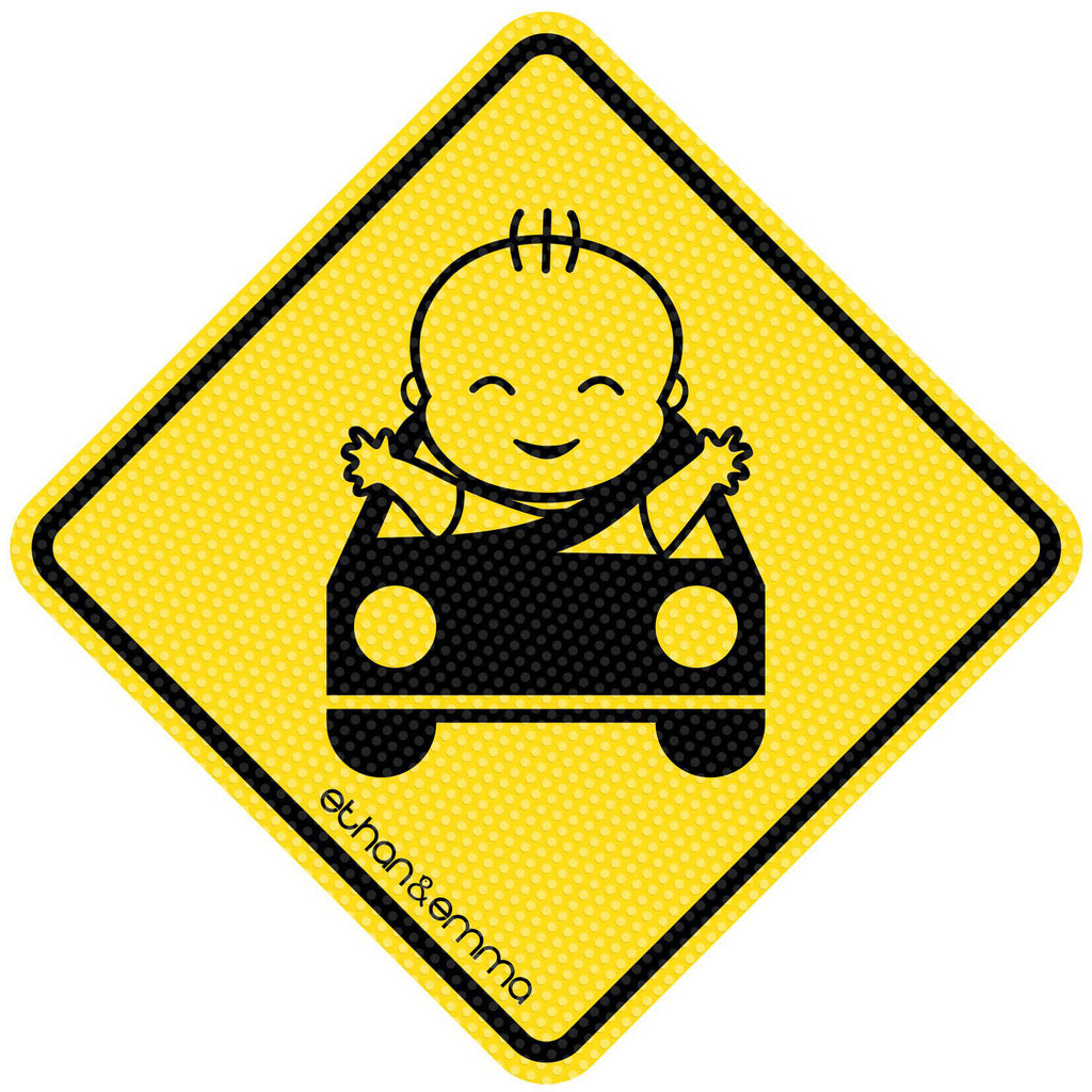 Baby On Board Sign Kids On Board Car Sign Suction Cup Car Window Sign