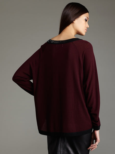 Beaded Neck Pullover