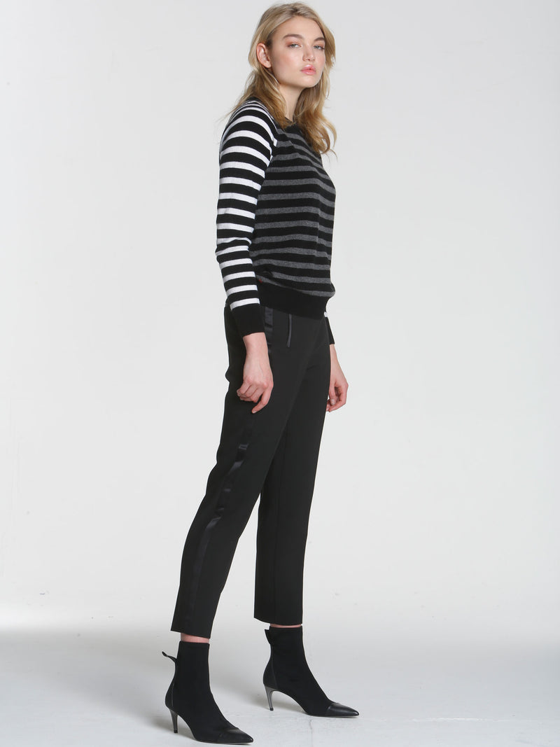 Warhol Stripe Crew - Black Multi