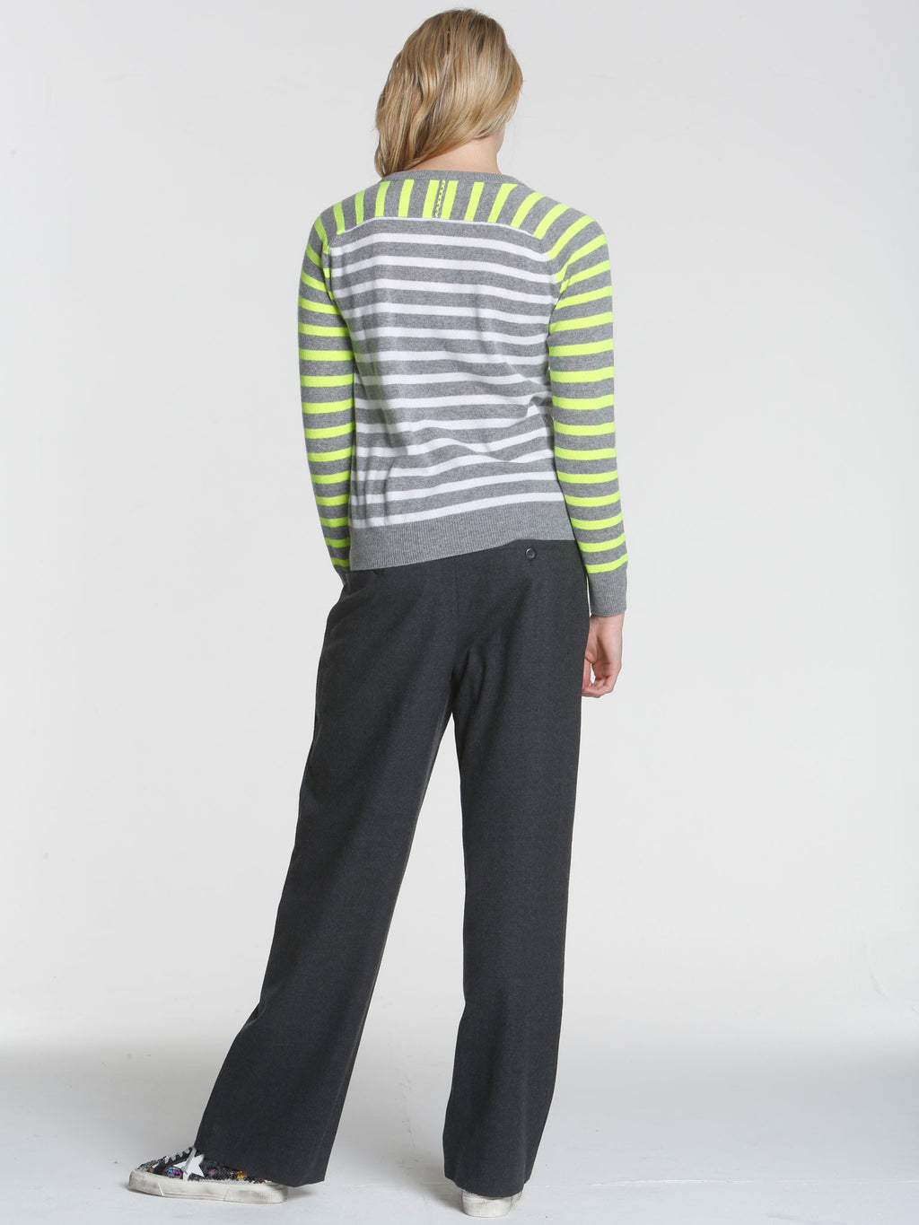 Warhol Stripe Crew - Grey Multi