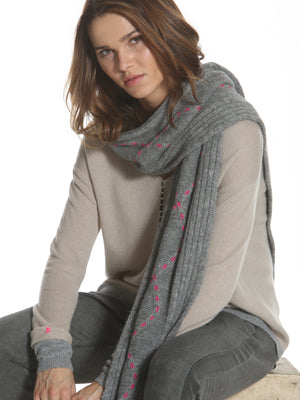 Cozy Cable Scarf - Grey