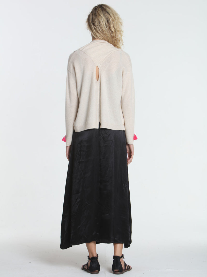 Cross Back Cardigan - Dune