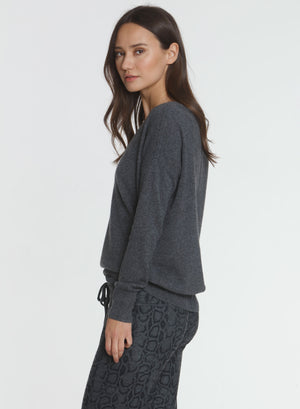 CORE Cashmere BF Vee - Charcoal