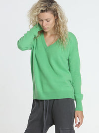 Core Cashmere BF Vee - Green