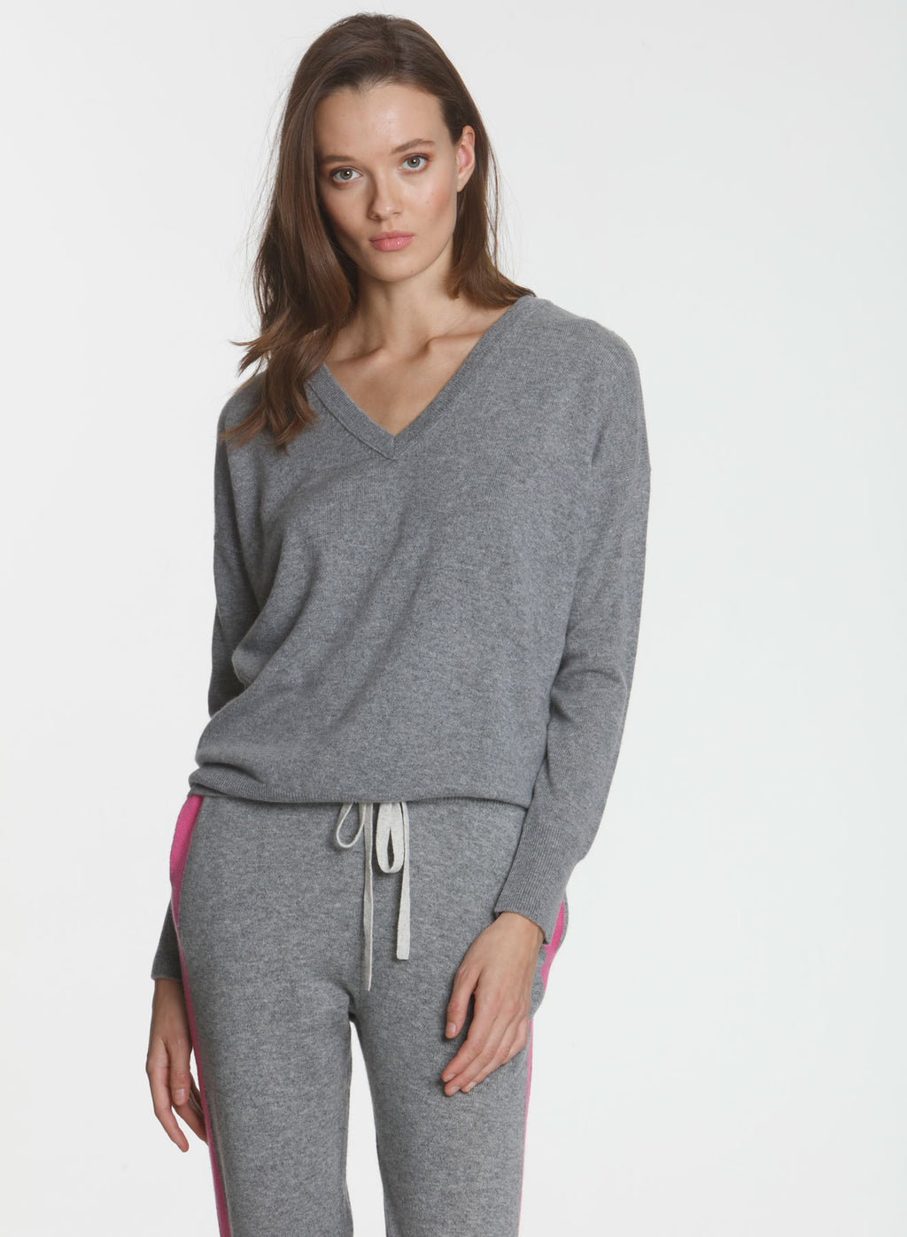 CORE Cashmere BF Vee - Grey