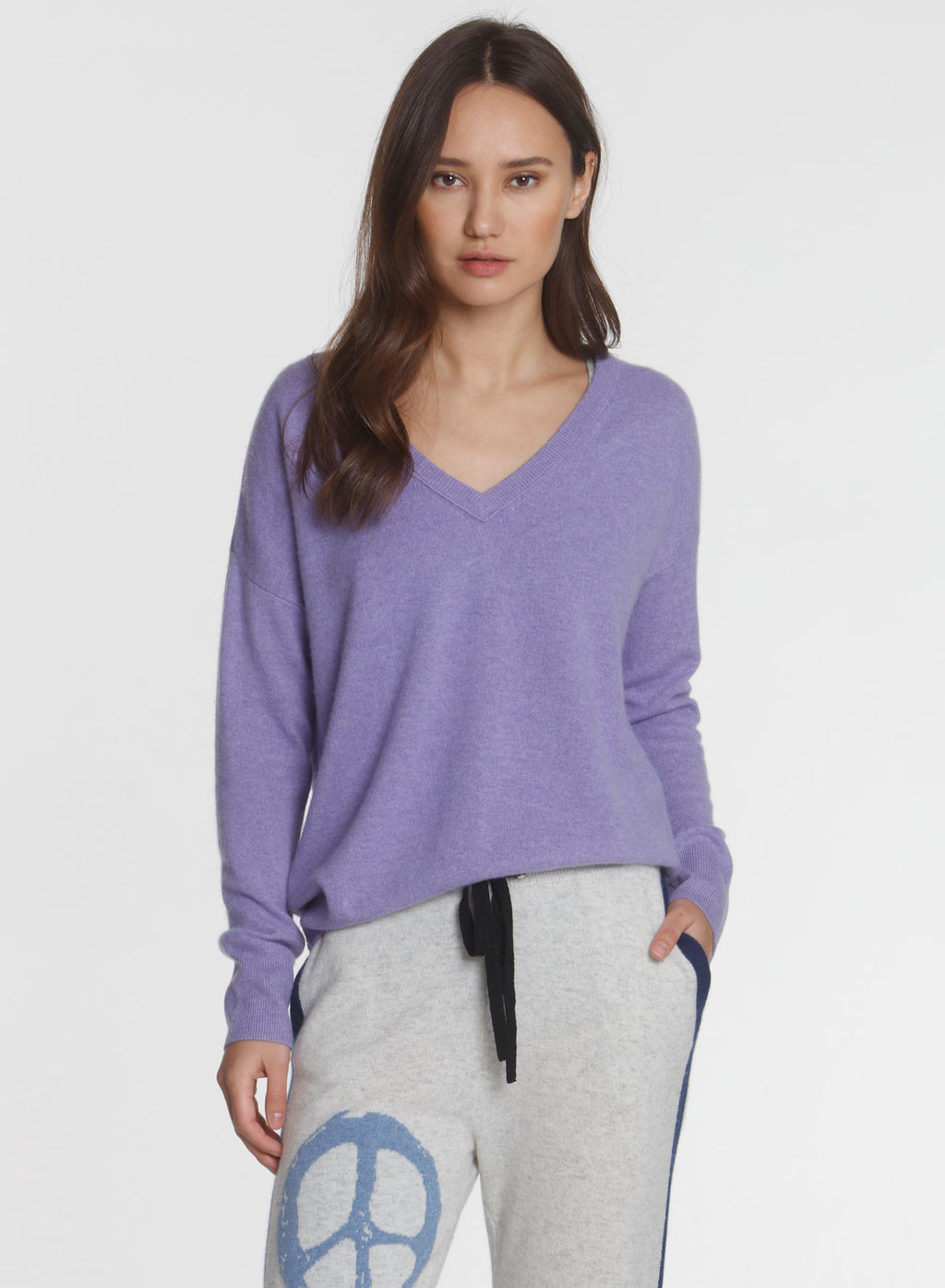 CORE Cashmere BF Vee - Lilac