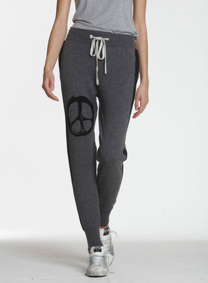 Luxe Peace Jogger - Charcoal