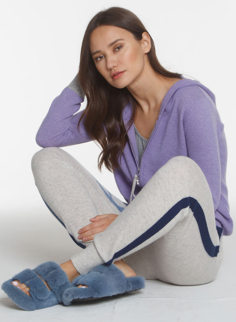 Silver Star Hoodie - Lilac