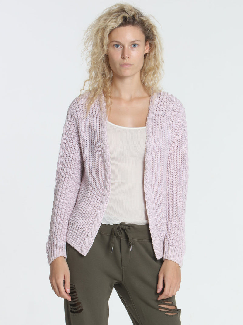Cool Days Cardigan - Faded Pink