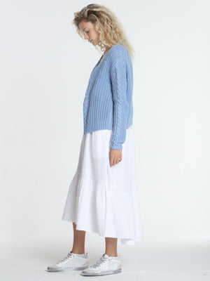 Cool Days Cardigan - Sky