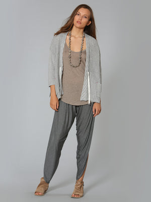 Rope Tie Cardigan - Grey