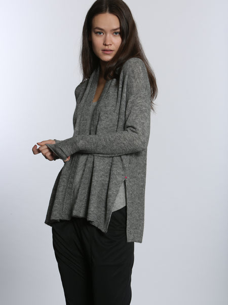 Cozy Hi Slit Cardigan