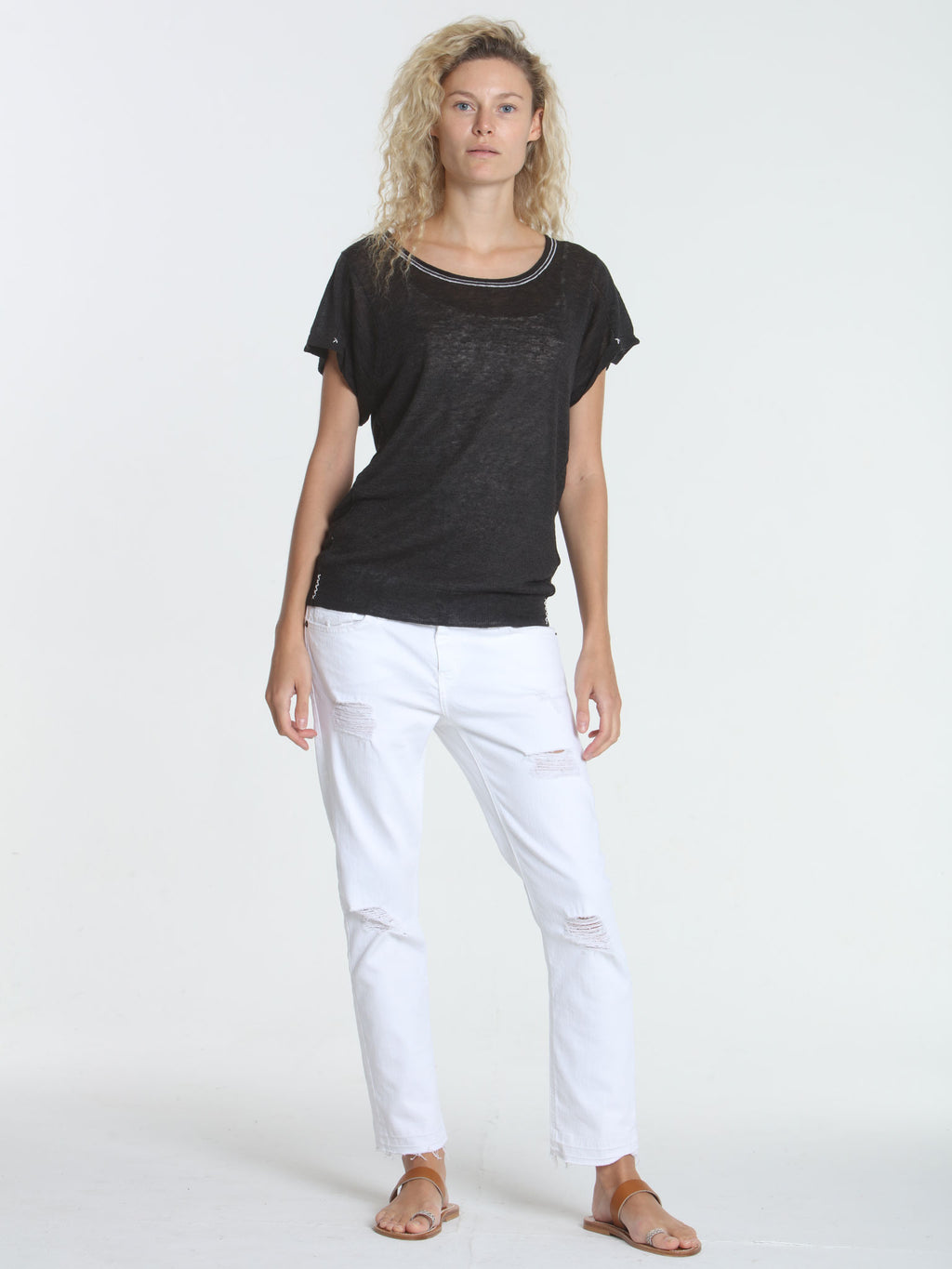Seamed Summer Tee - Graphite