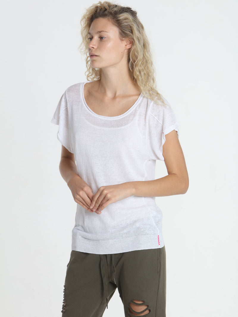 Seamed Summer Tee - White