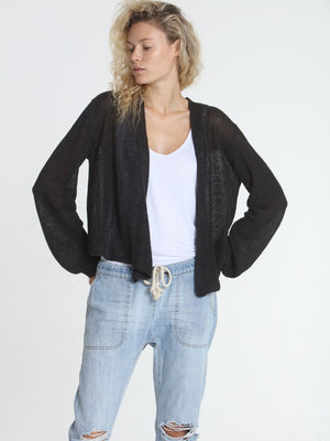 Ribbed Relax Cardigan - Graphite
