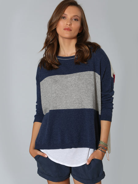 Luxe Blocked Scoop - Denim