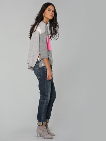 Luxe Blocked Scoop - Grey