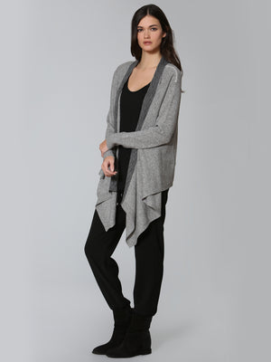 Luxe Cable Edge Cardigan - Grey