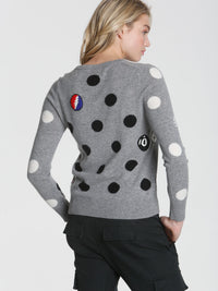 Polka Dot Mix - Grey