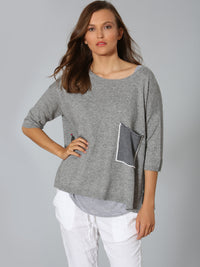 Luxe Pocket Tee - Grey