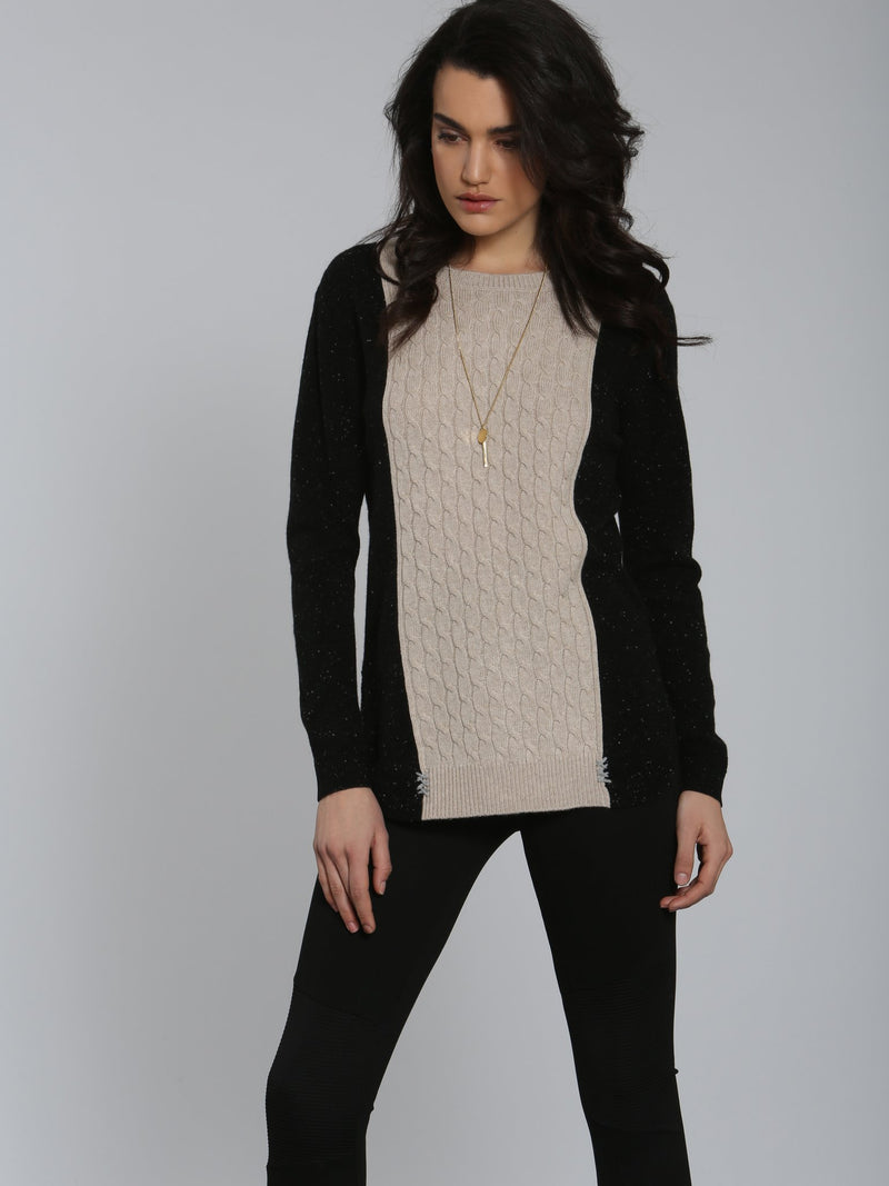 Luxe Baby Cable Tunic - Black