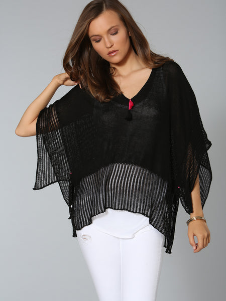 Caftan Coverup - Black