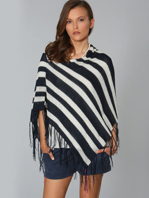 Shadow Stripe Coverup - Navy