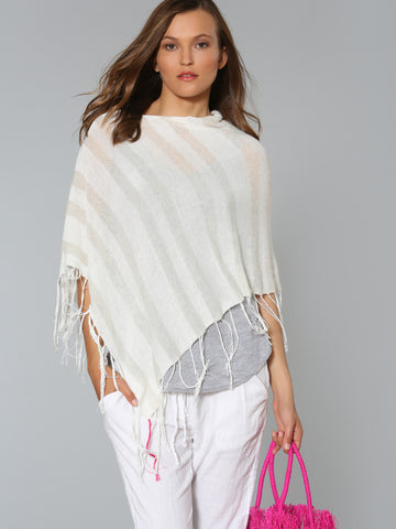 Shadow Stripe Coverup - White