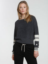 Loopy Crop Top - Charcoal