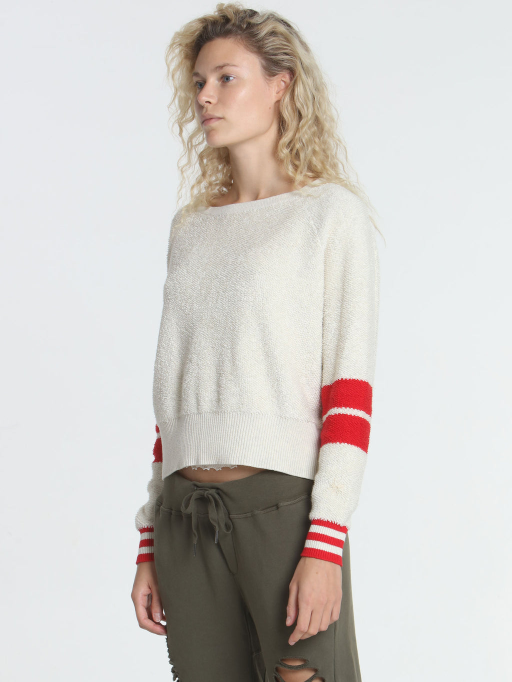 Loopy Crop Top - Ecru