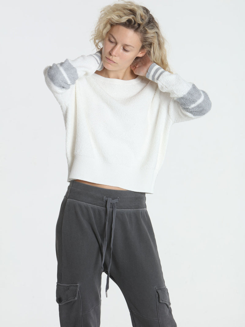 Loopy Crop Top - White