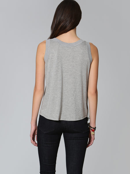 Double Drape Tank - Grey
