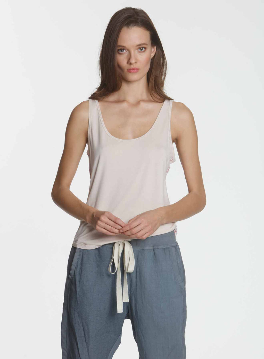 Simply Soft Shirttail Tank - Dune