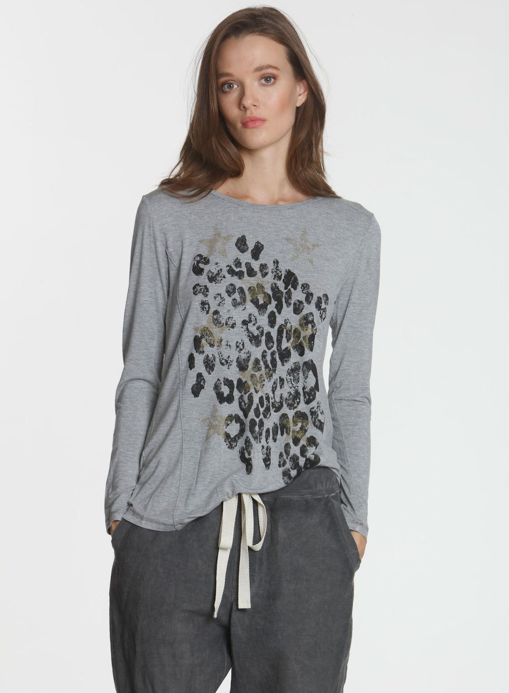 Graphic LS Tee Safari - Grey