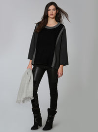 Honeycomb Poncho - Grey