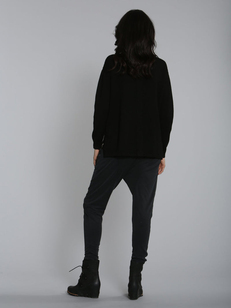 City Cable Pullover - Black