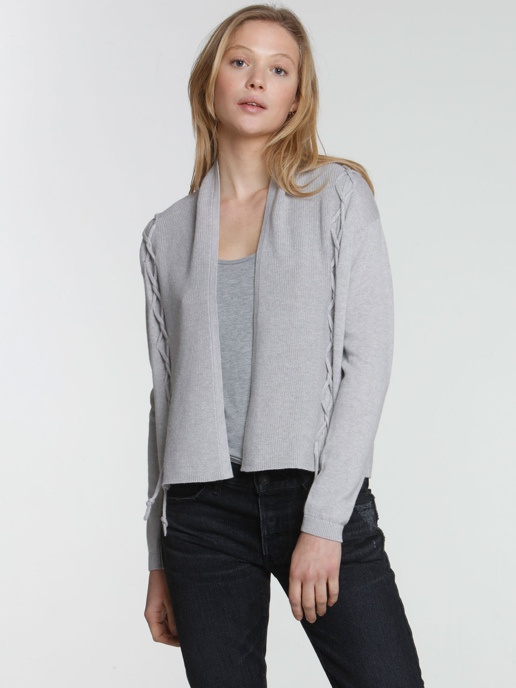 Twisted Tie Cardigan - Fog