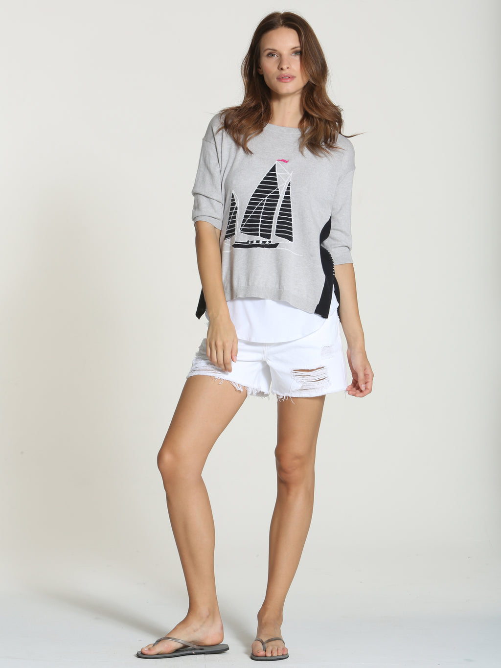 Cool Sailboat Tee - Fog