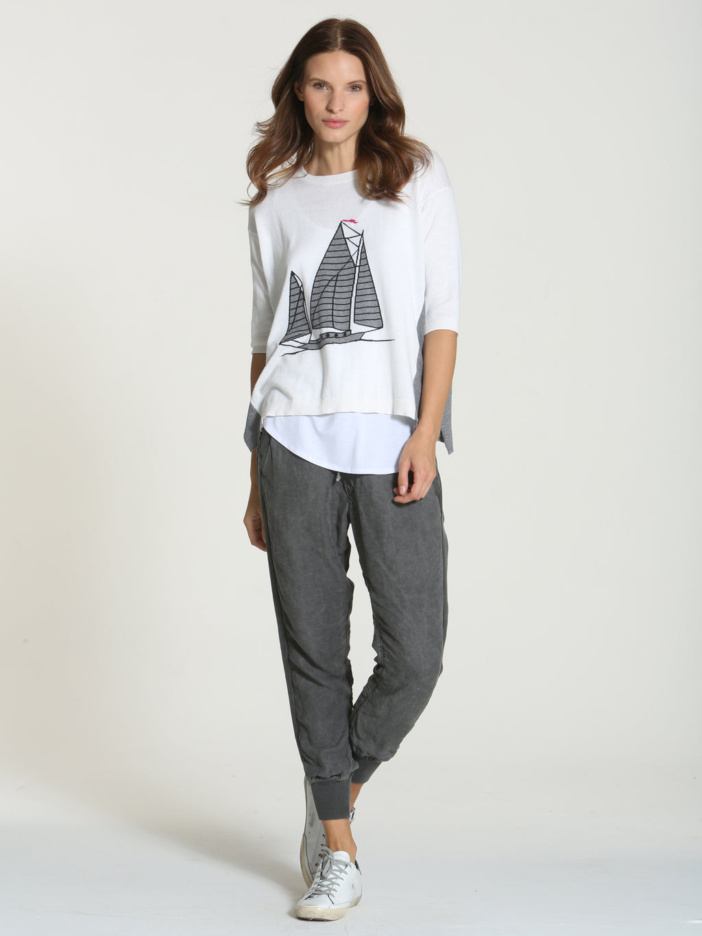 Cool Sailboat Tee - White