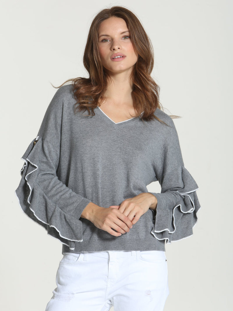 Cool Ruffle Sleeve - Thunder