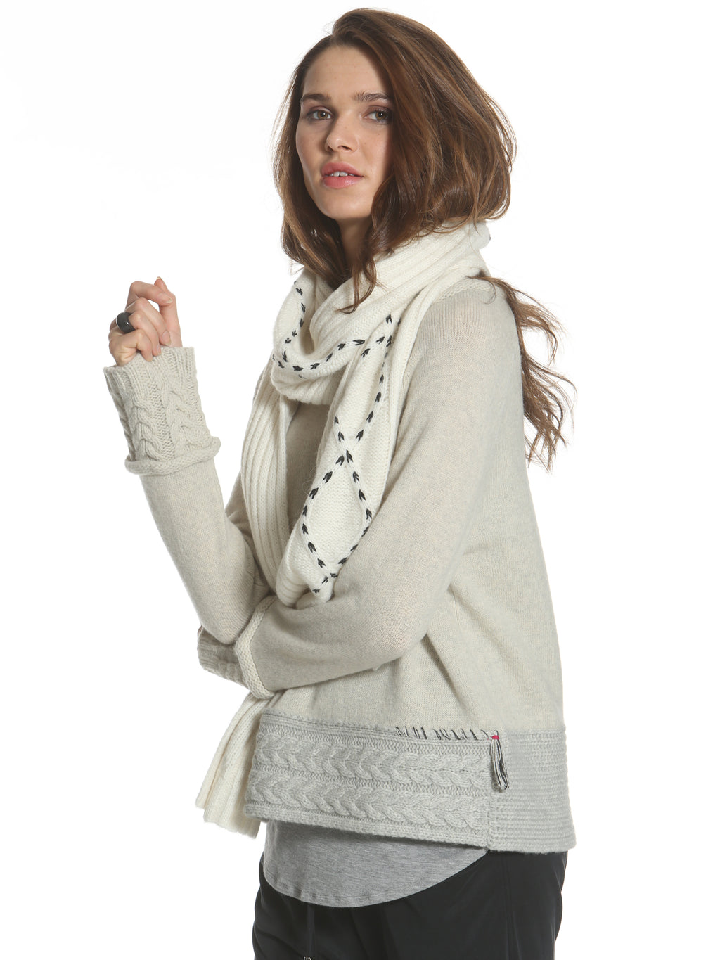 Cozy Cable Scarf - White