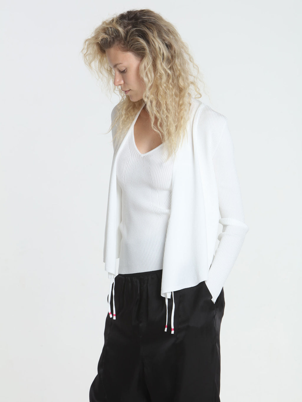 Two Ways Cardigan - White