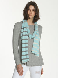 Striped Tube Scarf
