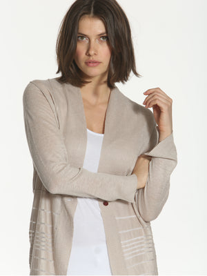 Drop Stitch Cardigan - Linen