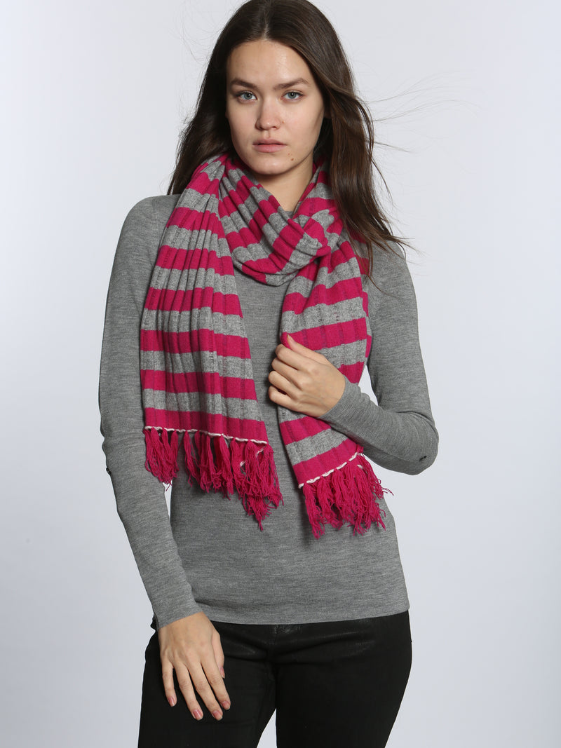 Boiled Striped Scarf