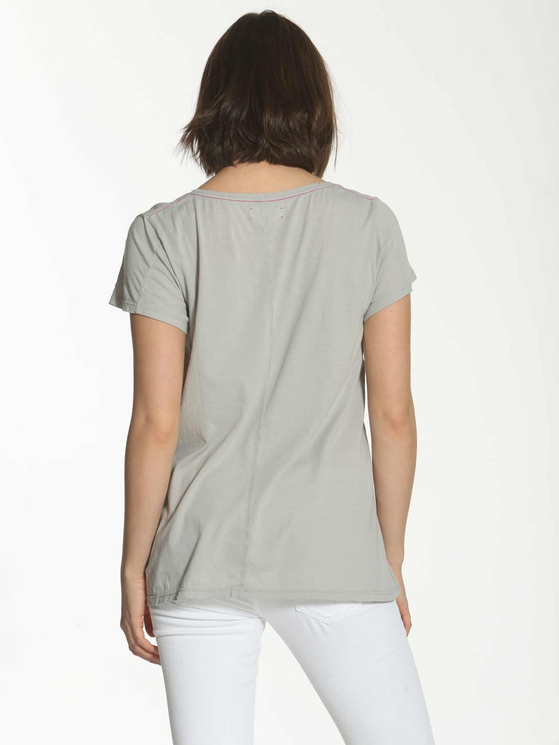 V Neck Swing Tee - Grey