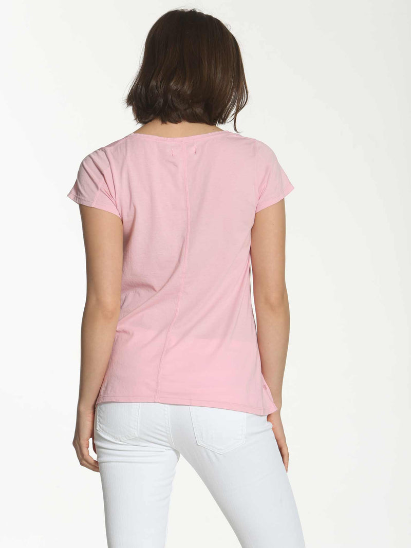 V Neck Swing Tee - Rose