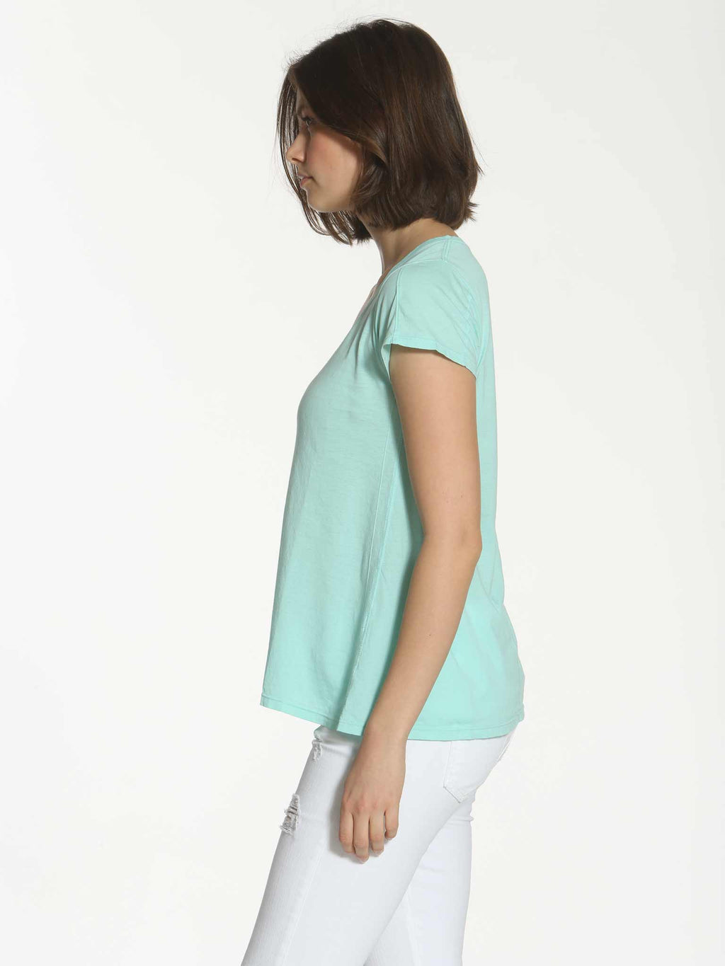 V Neck Sun Tee - Turquoise