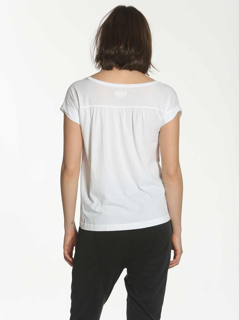 Scoop Shirred Tee